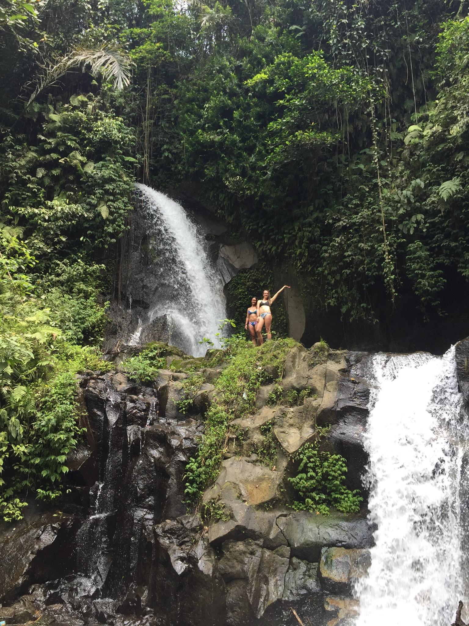 Beautiful waterfall in bali
